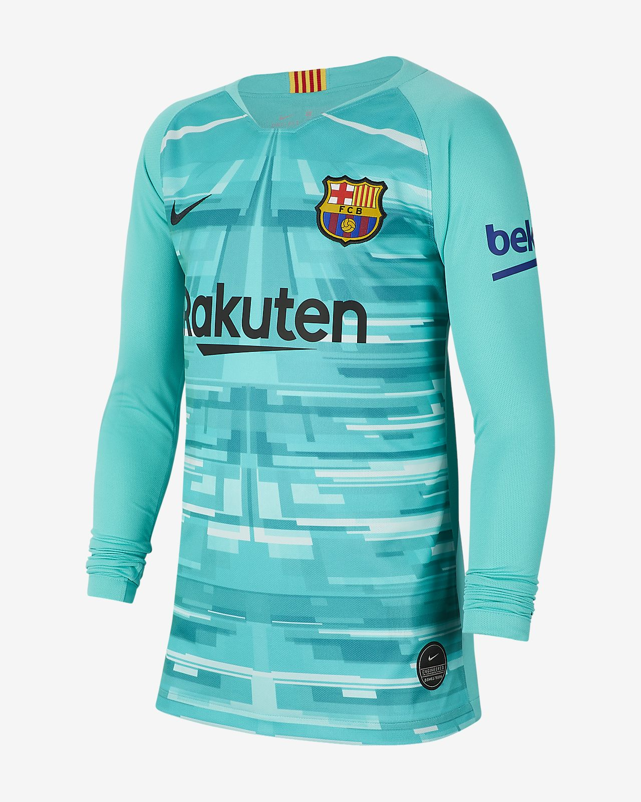 FC Barcelona 2019/20 Stadium Goalkeeper Older Kids' Football Shirt