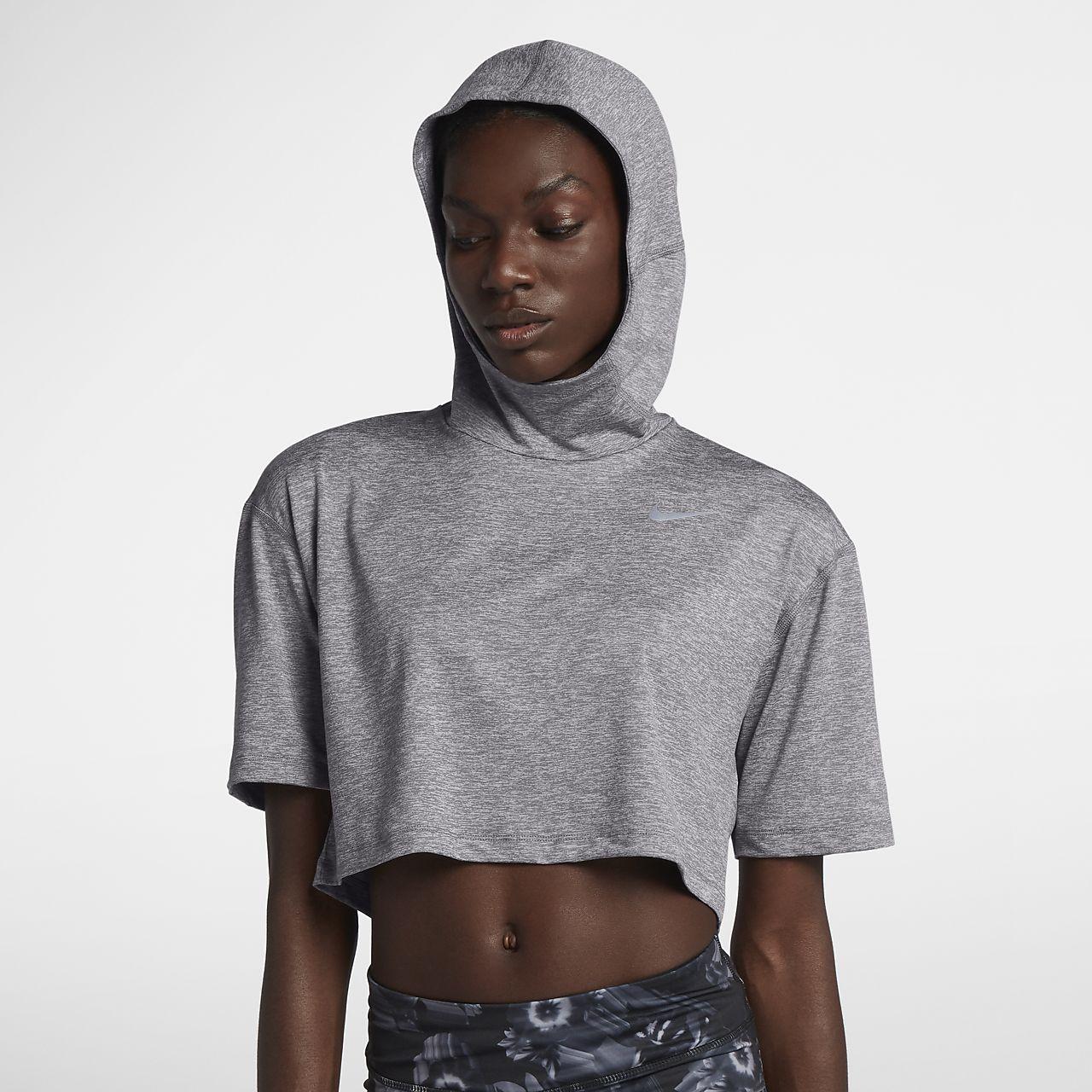 137b4e193d857 Nike Element Women s Short Sleeve Running Hoodie. Nike.com