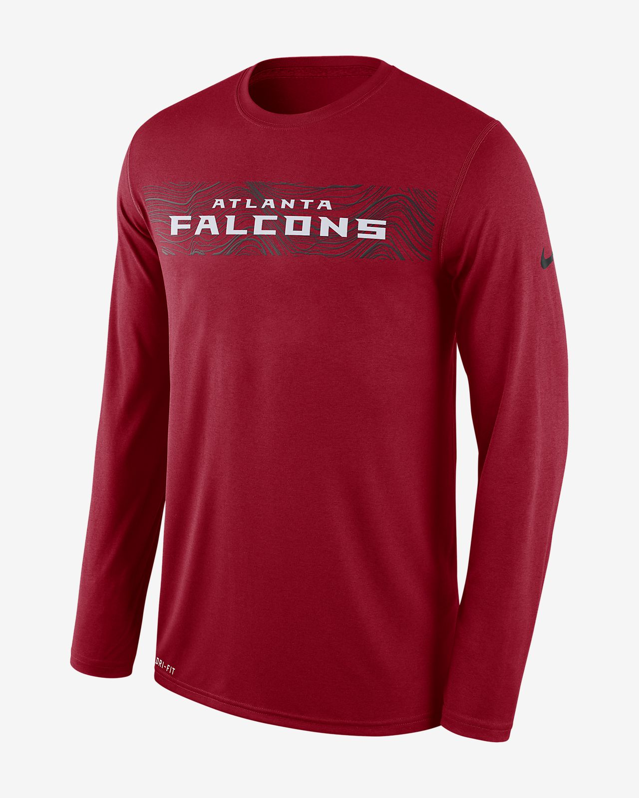 Nike Dri-FIT Legend Seismic (NFL Falcons) Men s Long Sleeve T-Shirt ... 42ab3f146d91