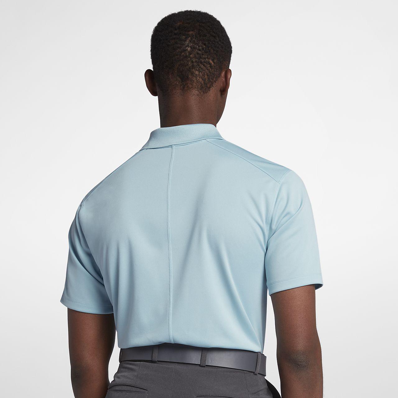 Polo de golf coupe standard Nike Dri-FIT Victory Left Chest pour Homme - Noir zLNIe