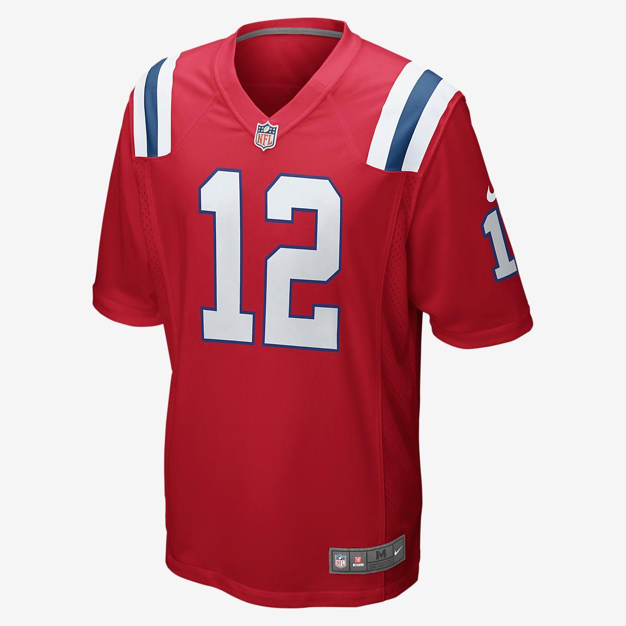 6b75f3462 ... Camiseta oficial de fútbol americano alternativa para hombre de NFL New  England Patriots (Tom Brady