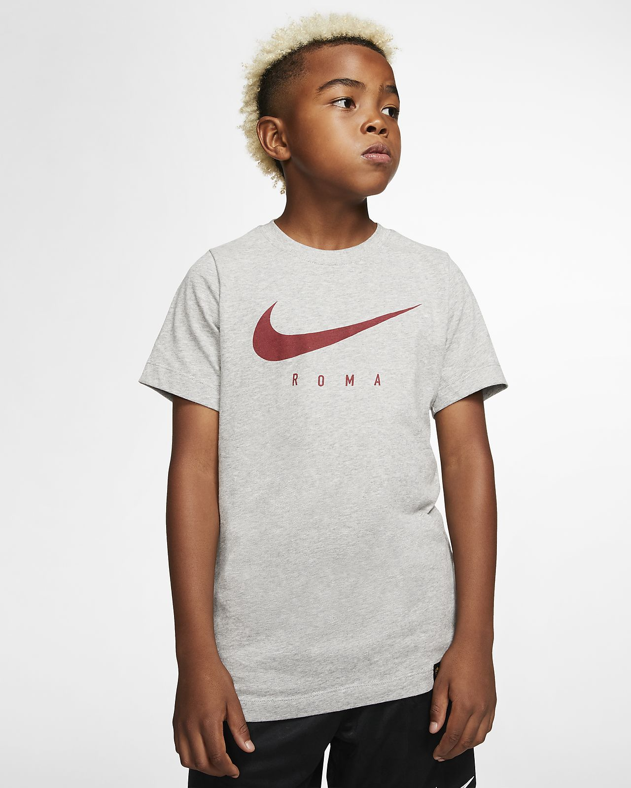 Playera de fútbol Nike Dri-FIT A.S. Roma para niños talla grande