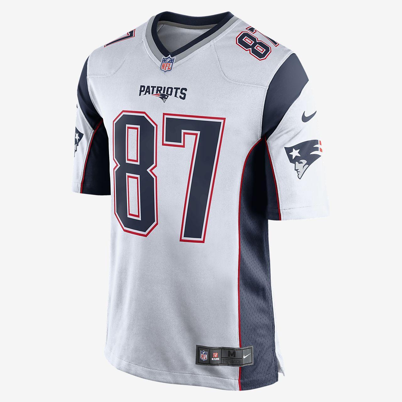 NFL New England Patriots (Rob Gronkowski) Men's Football Away Game Jersey