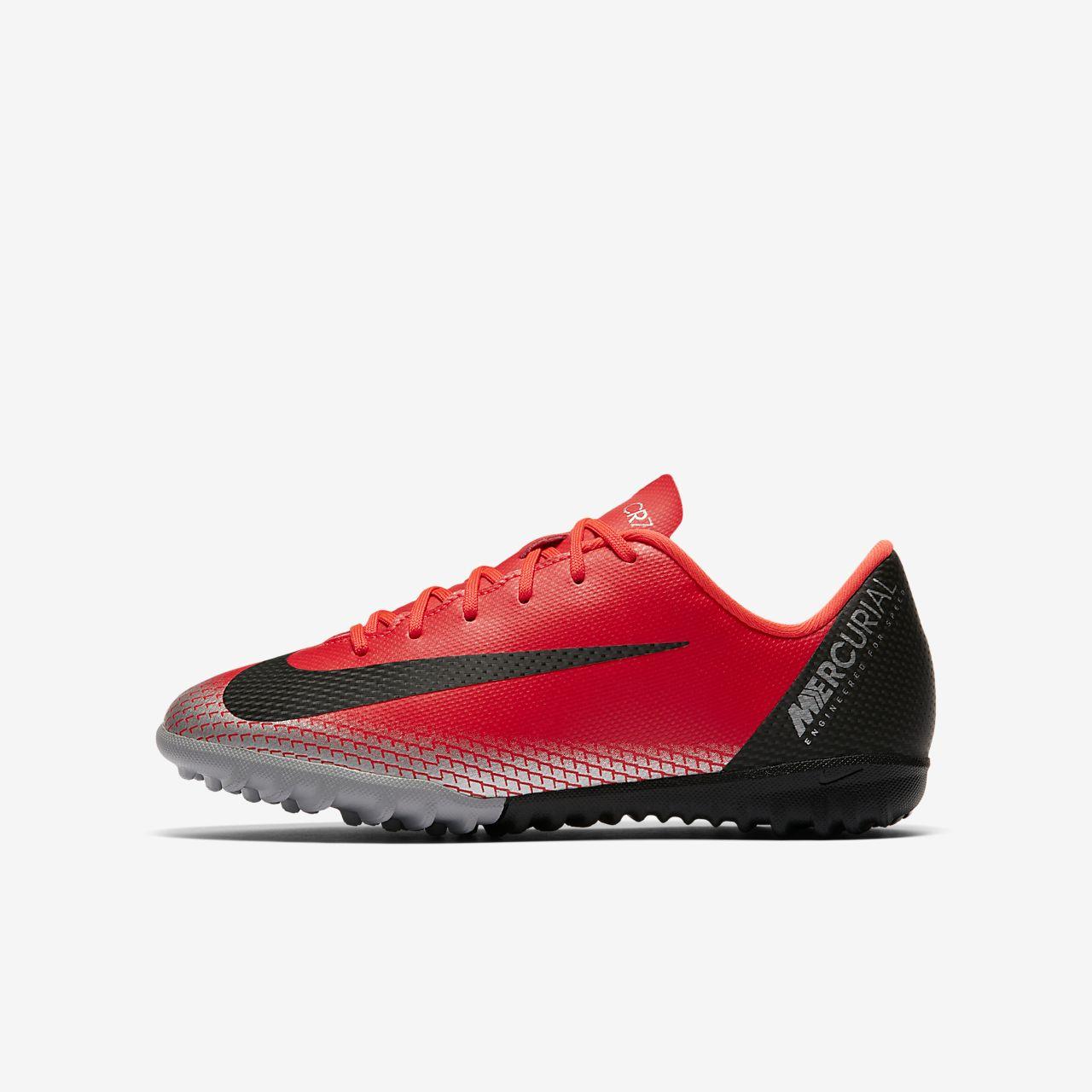 Nike Jr. MercurialX Vapor XII Academy CR7 小/大童草地足球鞋