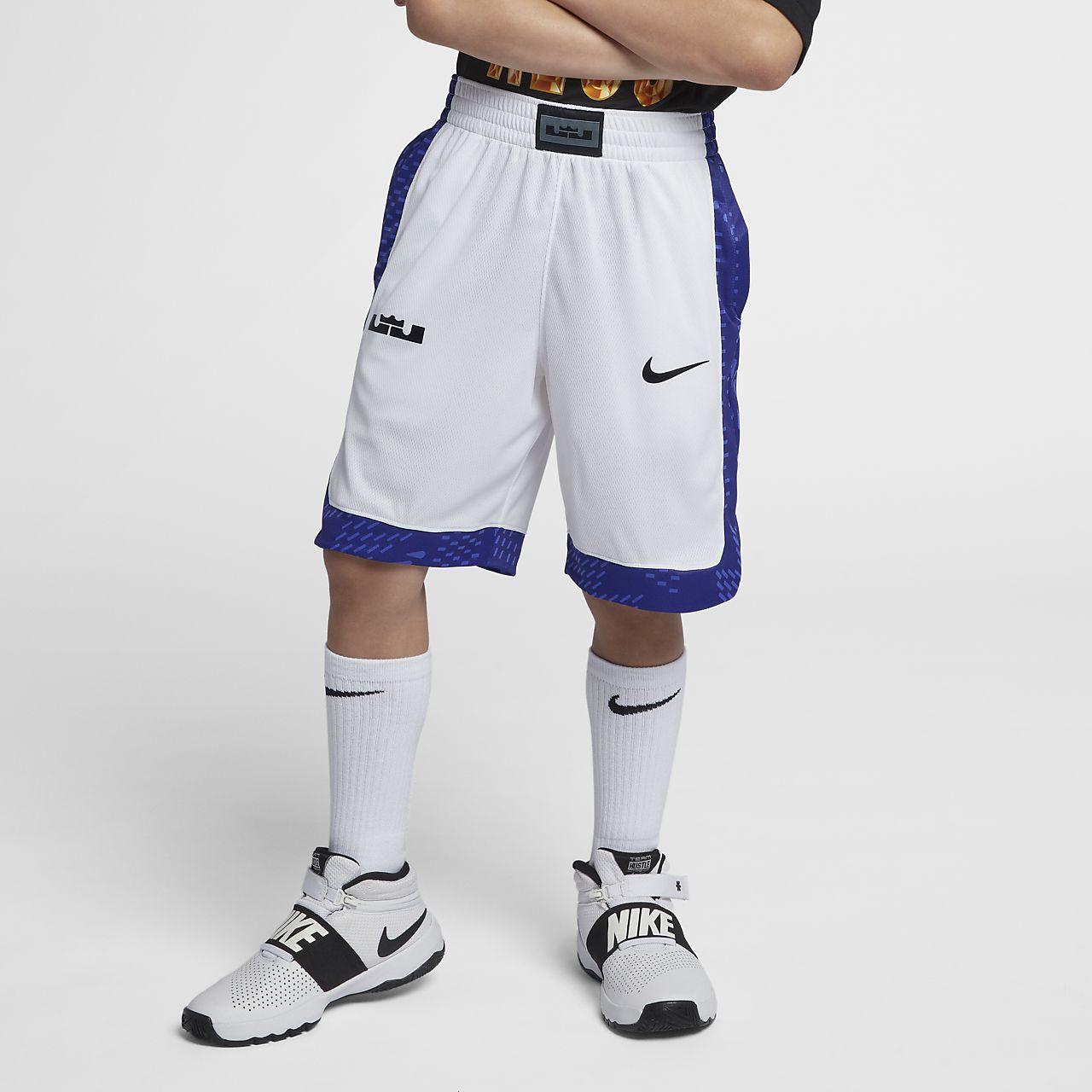 Shorts de básquetbol estampados para niño talla grande Lebron Dri-FIT
