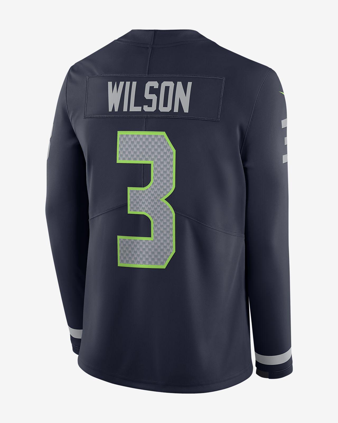 4014bca575d ... NFL Seattle Seahawks Jersey (Russell Wilson) Men's Long-Sleeve Football  Jersey