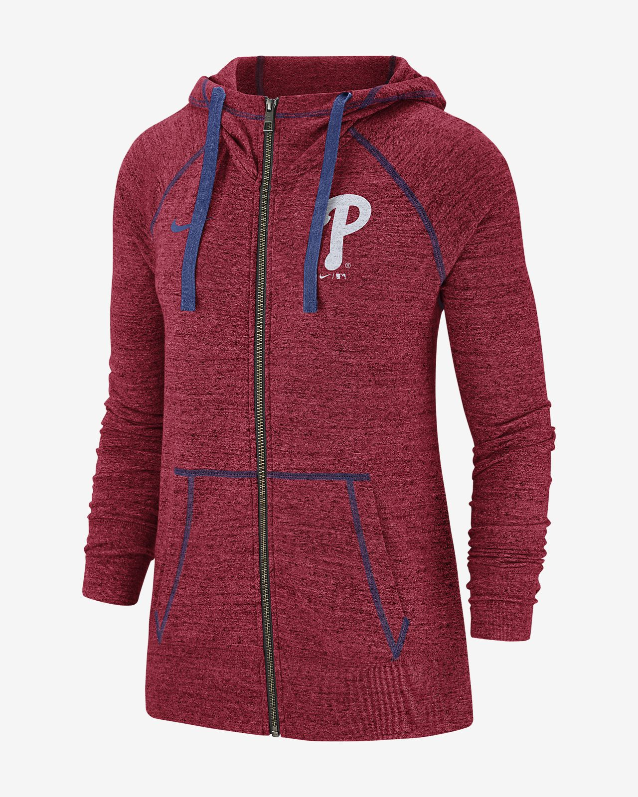 Nike Gym Vintage (MLB Phillies) Women's Full-Zip Hoodie
