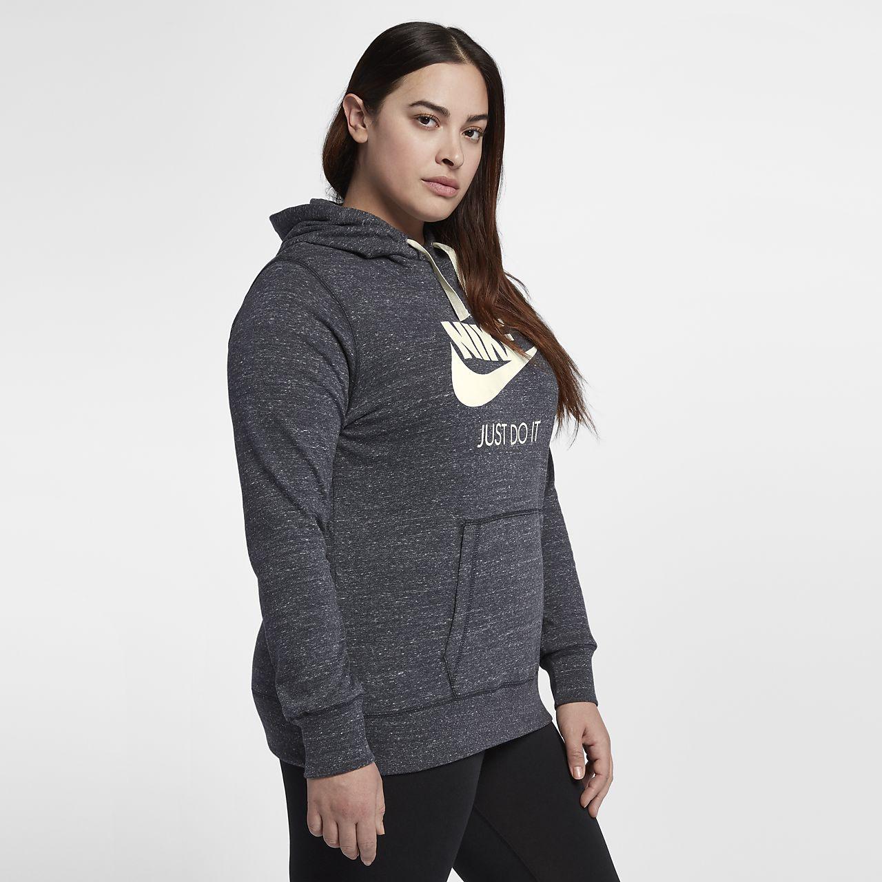 Nike Sportswear Gym Vintage Kadın Kapüşonlu Üst (Büyük Beden)