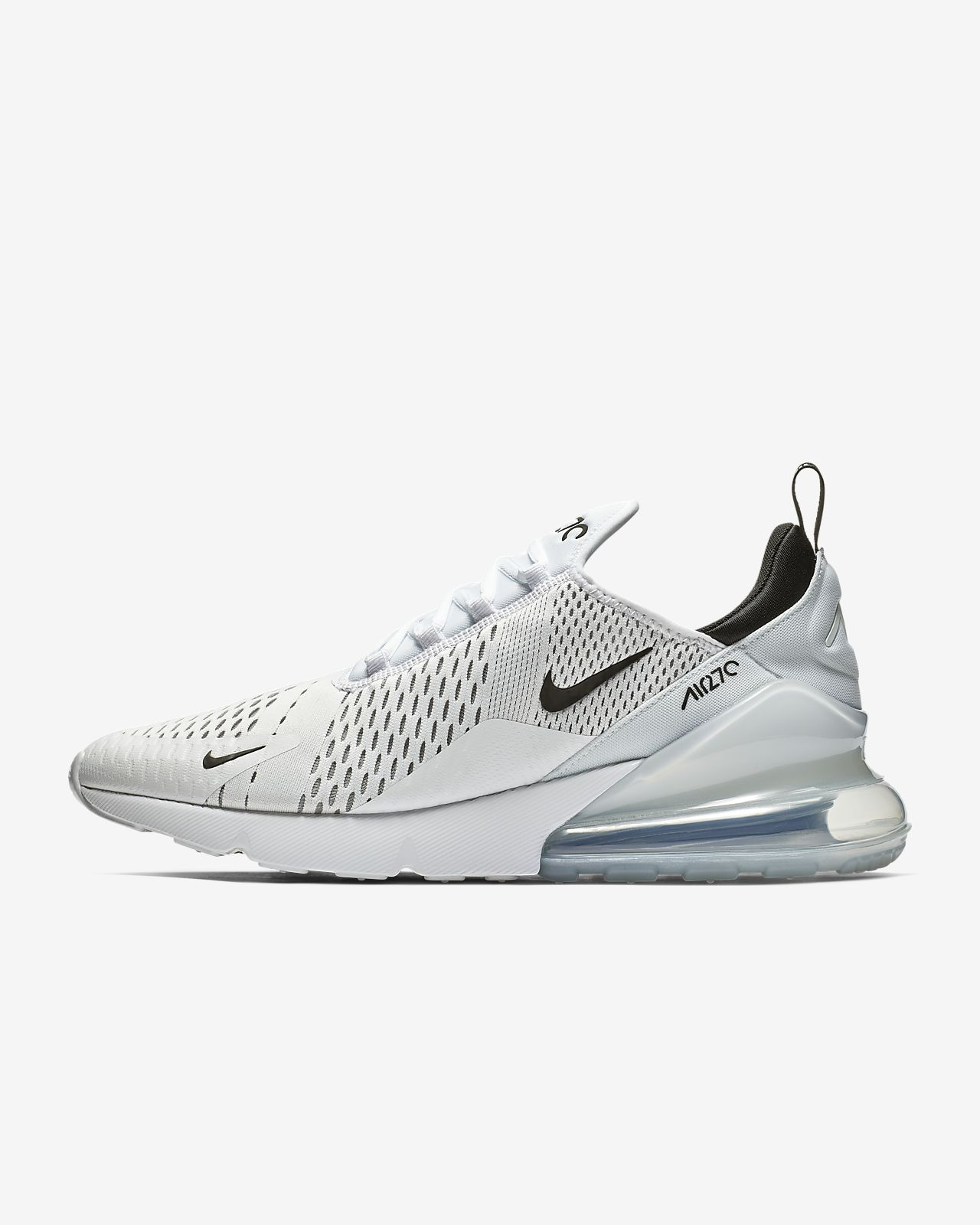 Mens Nike Air Max 720270 Running Shoes White black
