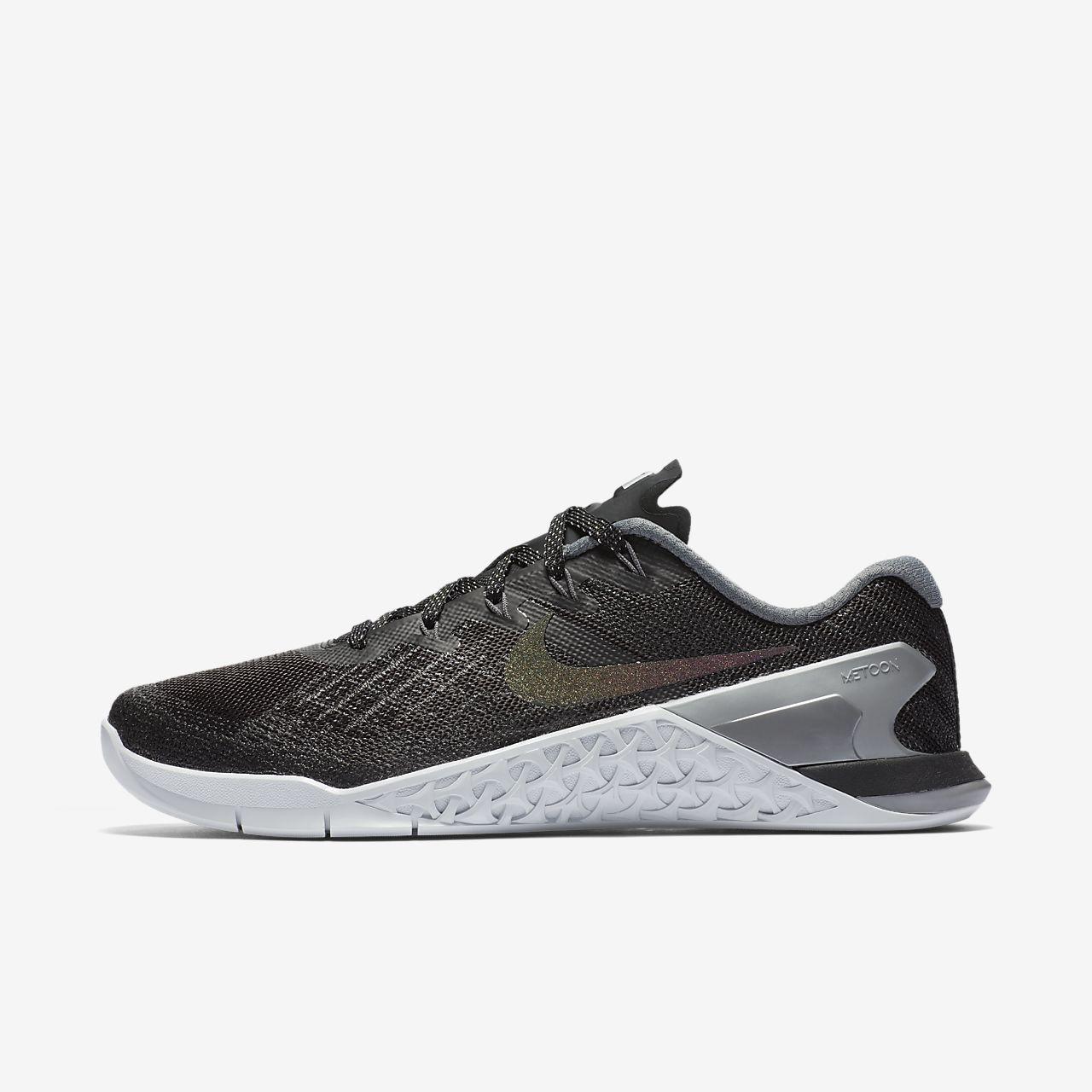 Women's Nike Metcon 3 METALLIC Black/ Silver (922880-001) Size 6