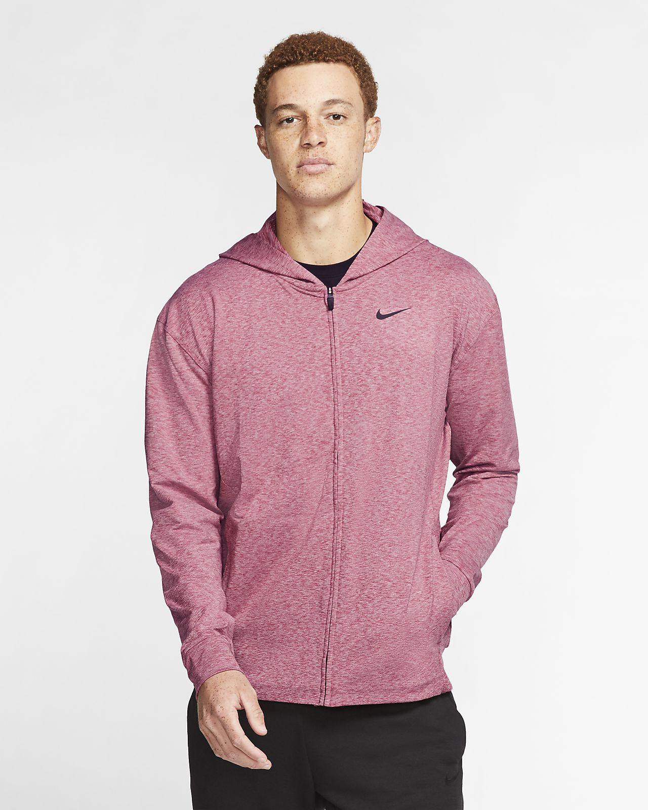 Nike Dri-FIT Sudadera con capucha de entrenamiento de yoga con cremallera completa - Hombre