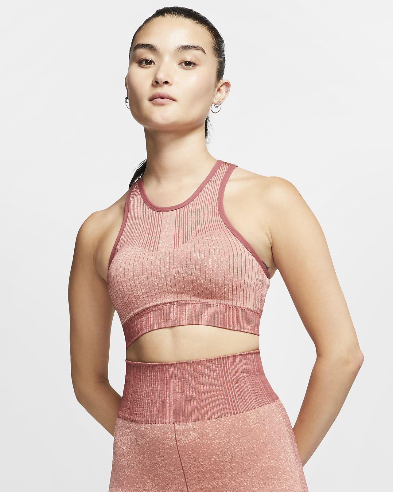 Nike City Ready sømløs sports-BH med lett støtte til dame