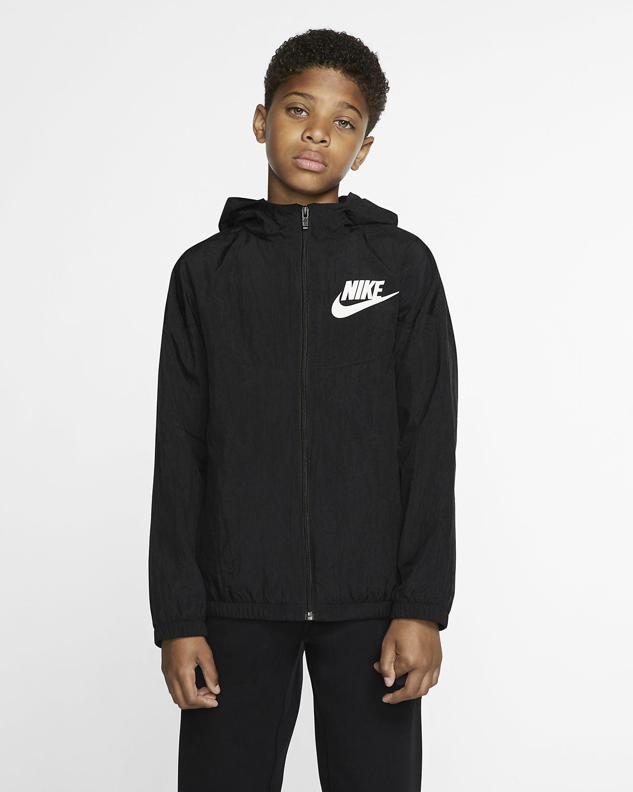 Tkaná bunda Nike Sportswear pro větší děti