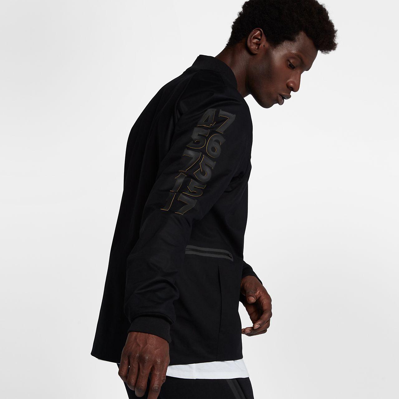 2c41385e41d4 Golden State Warriors Nike Modern Men s NBA Varsity Jacket. Nike.com CA