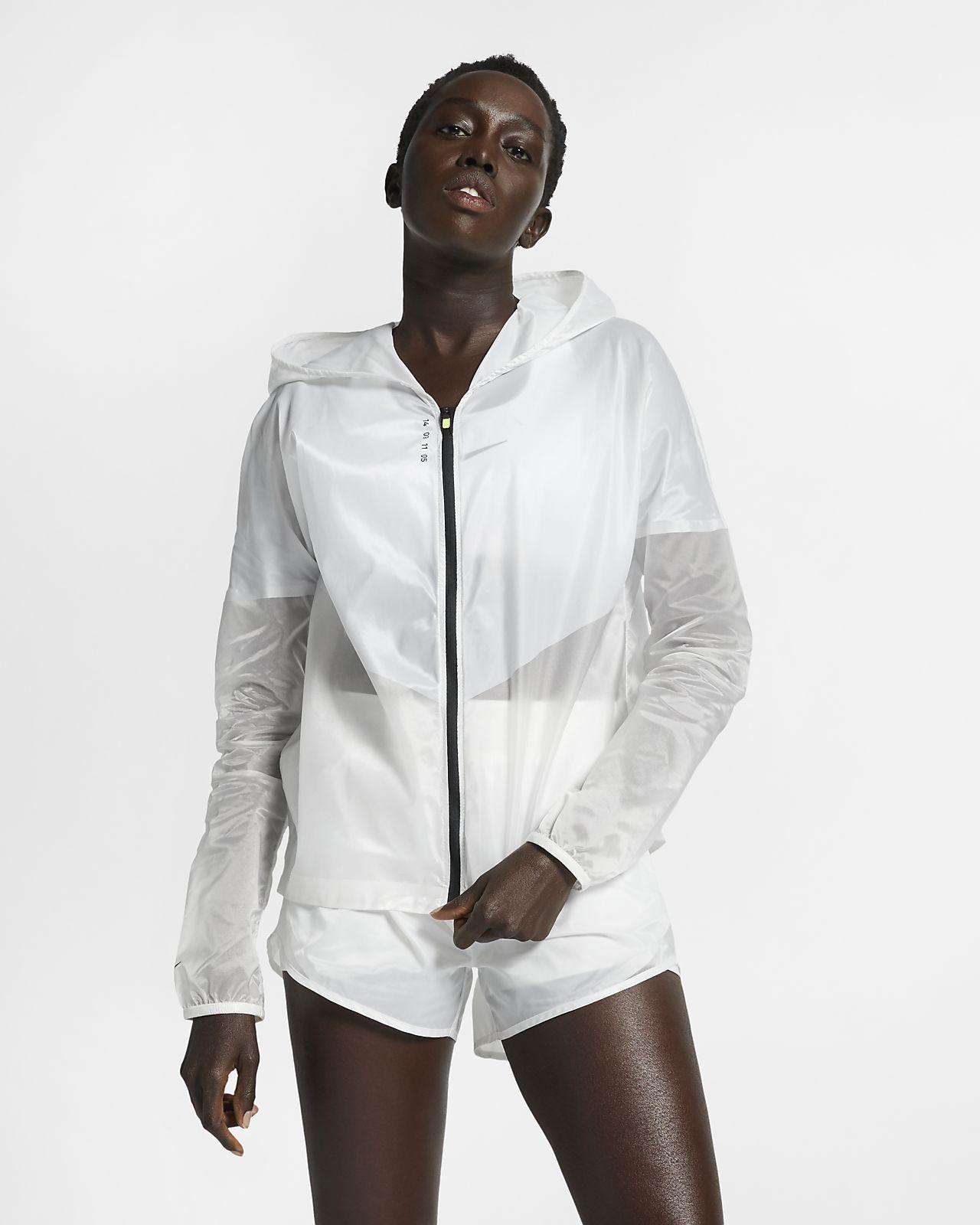 Nike Tech Pack-løbejakke med hætte til kvinder