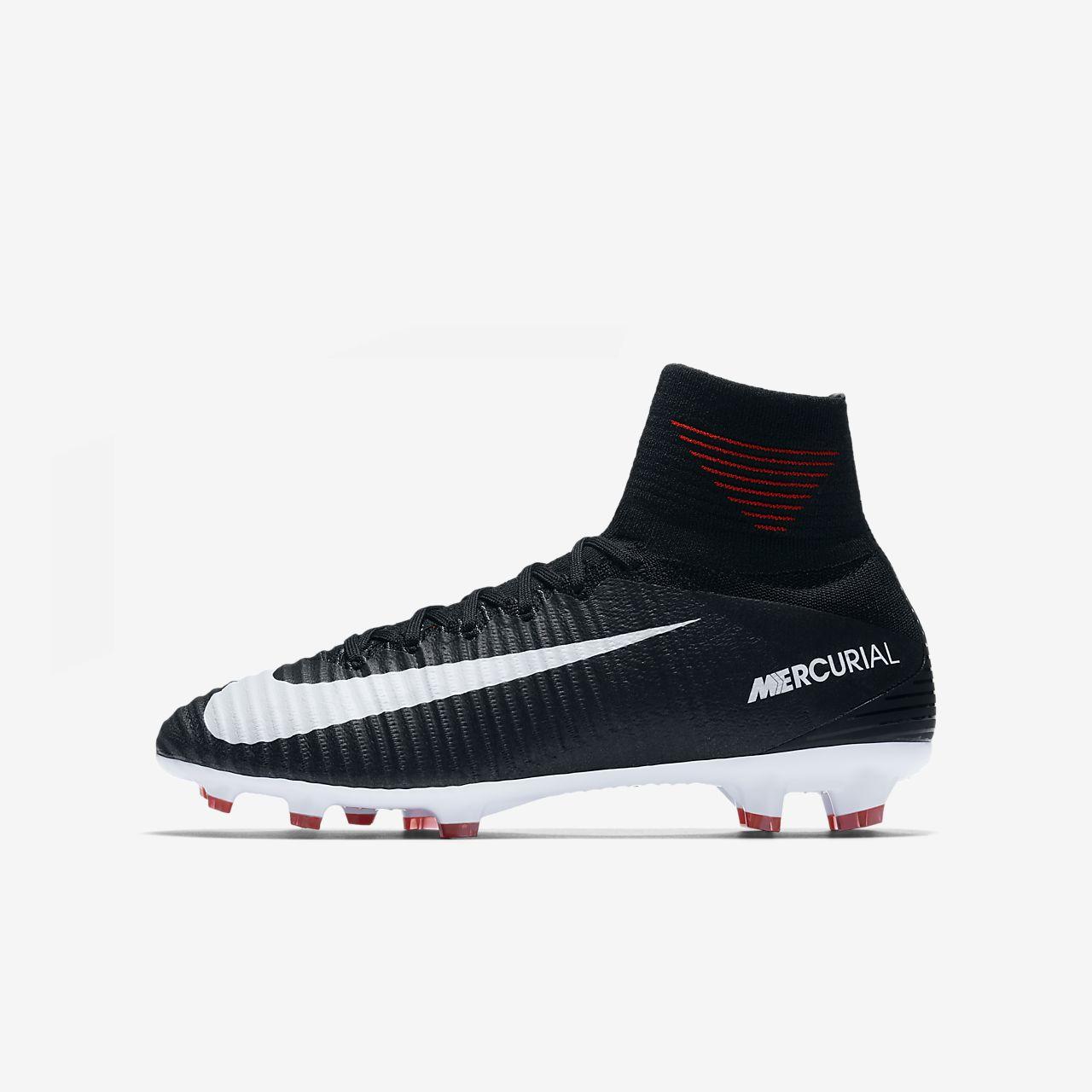 Botas de fútbol para terreno firme para niños de talla grande Nike Jr. Mercurial Superfly V Dynamic Fit