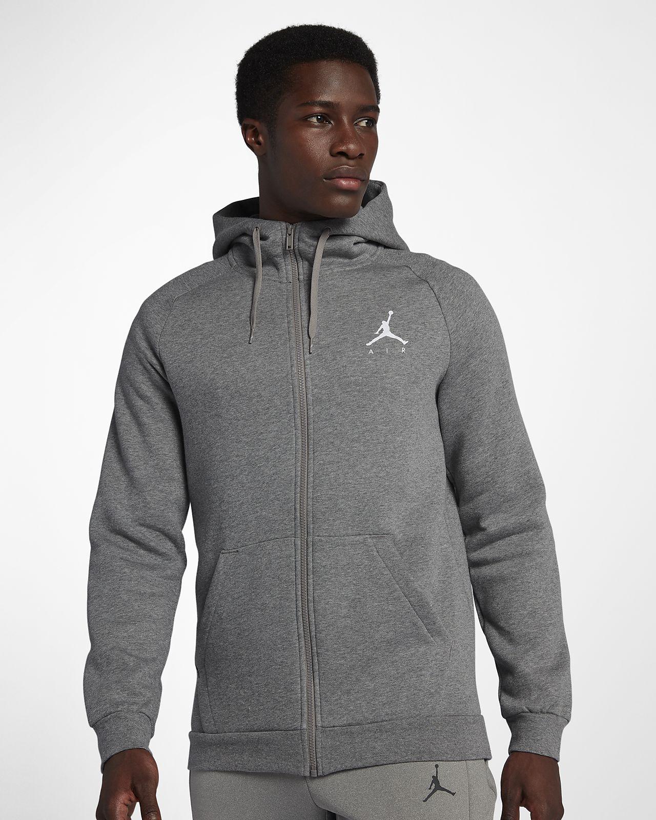 Sweat à capuche entièrement zippé en tissu Fleece Jordan Jumpman pour Homme