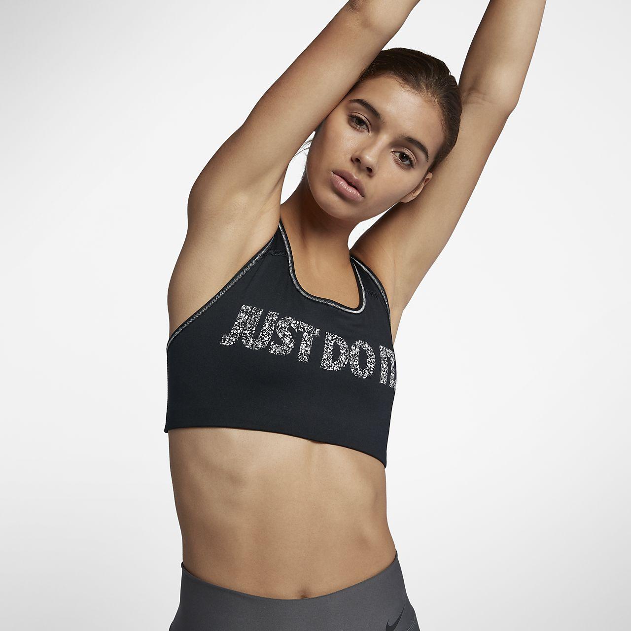 ... Sujetador deportivo de sujeción media para mujer Nike Just Do It