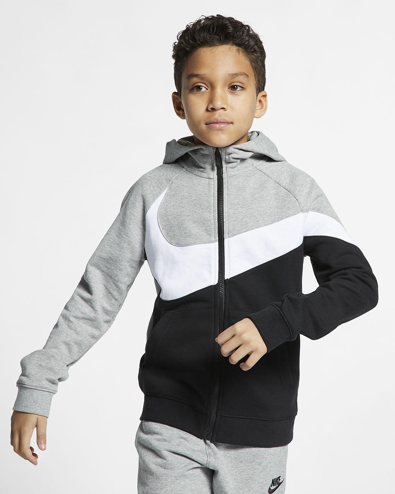 Huvtröja med dragkedja i fullängd Nike Sportswear för barn