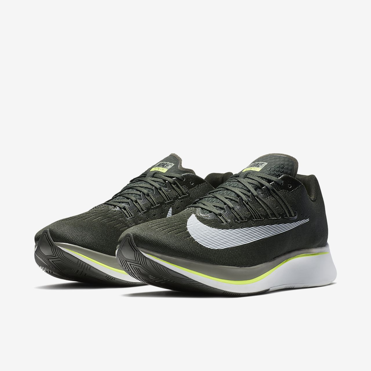 ZOOM FLY - Laufschuh Neutral - sequoia/medium olive/dark stucco/white