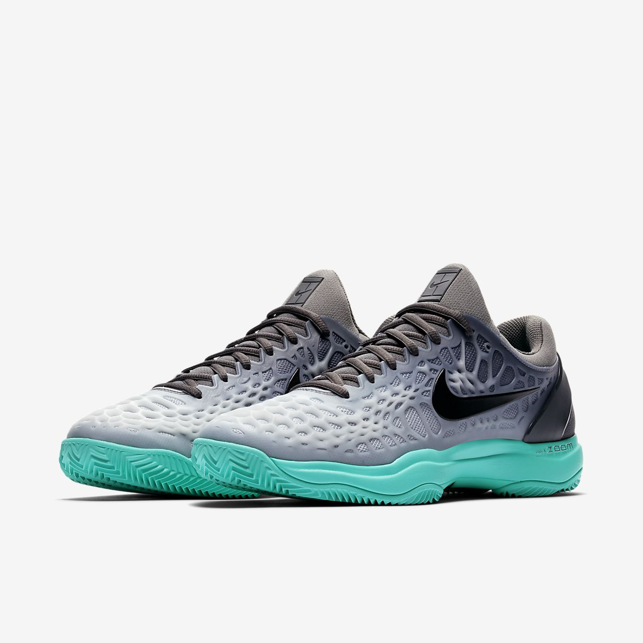 Nike Zoom Cage 3 Clay (918192-001) Mens Tennis Shoes Grey/Black