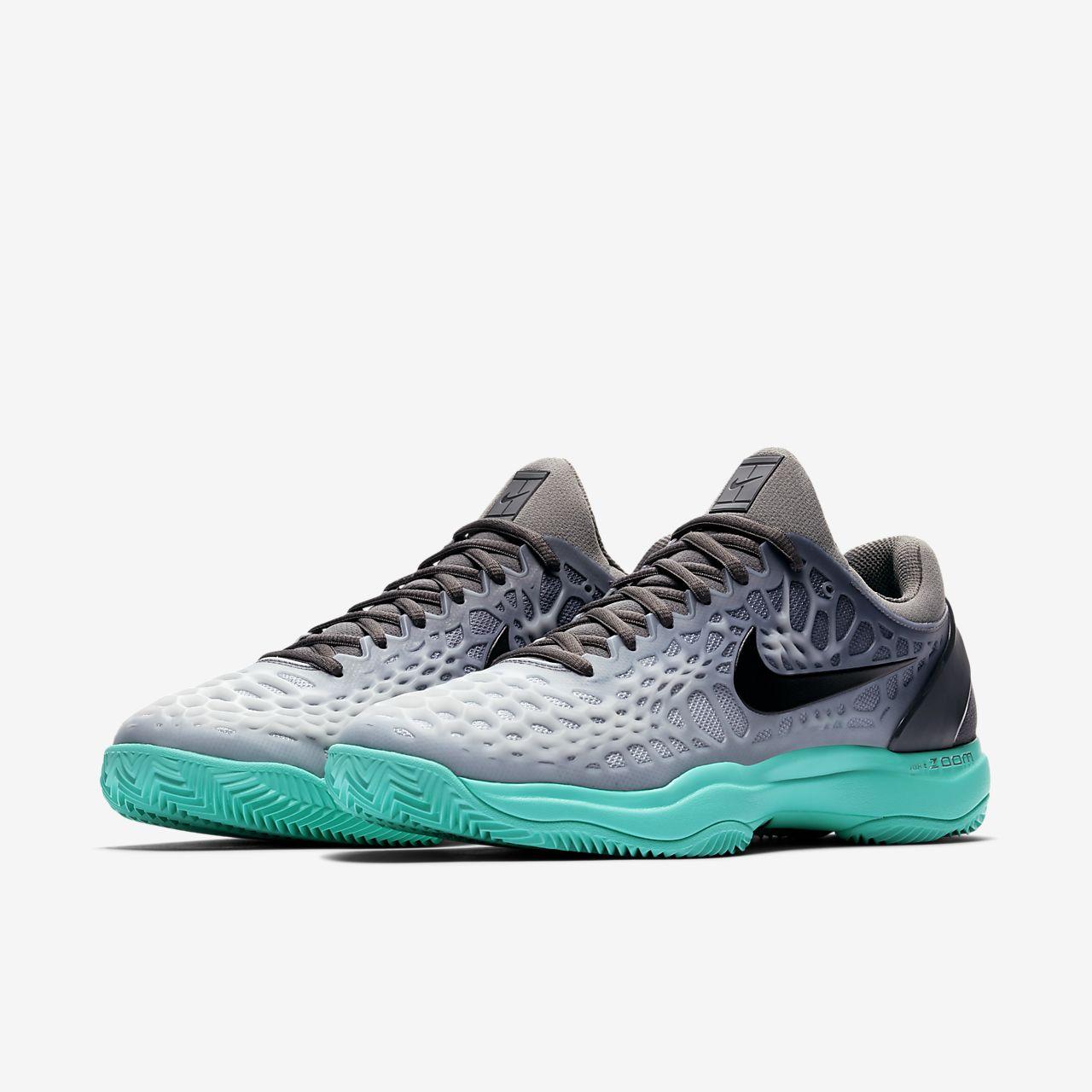 Nike Zoom Cage 3 Clay Men's Tennis Shoes Black pQ6306Y
