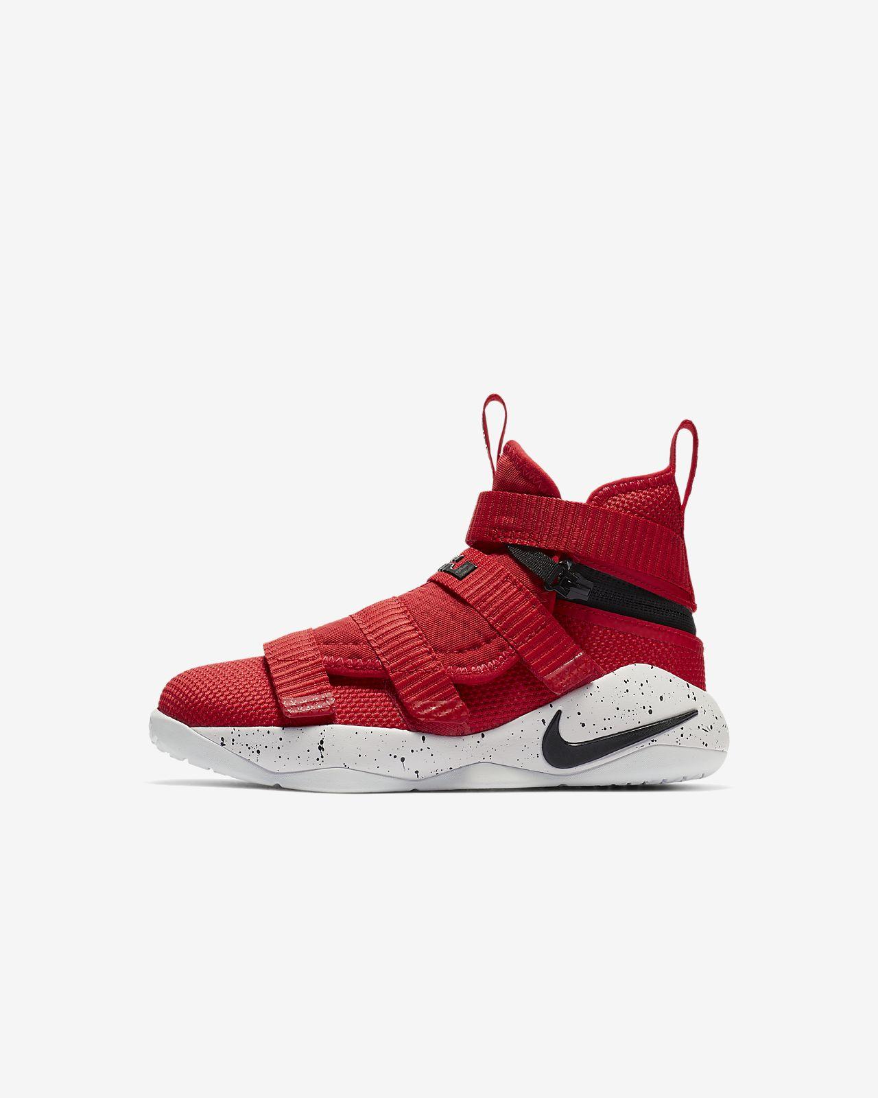 1222b3097e3d2 LeBron Soldier 11 FlyEase Little Kids  Shoe. Nike.com