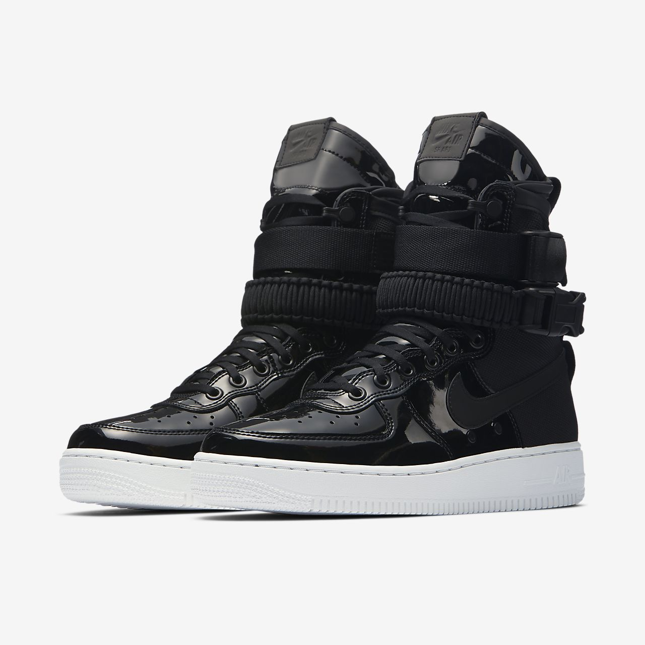 Nike SF Air Force 1 SE Premium Women's Lifestyle Shoes Black/Grey kW2771E