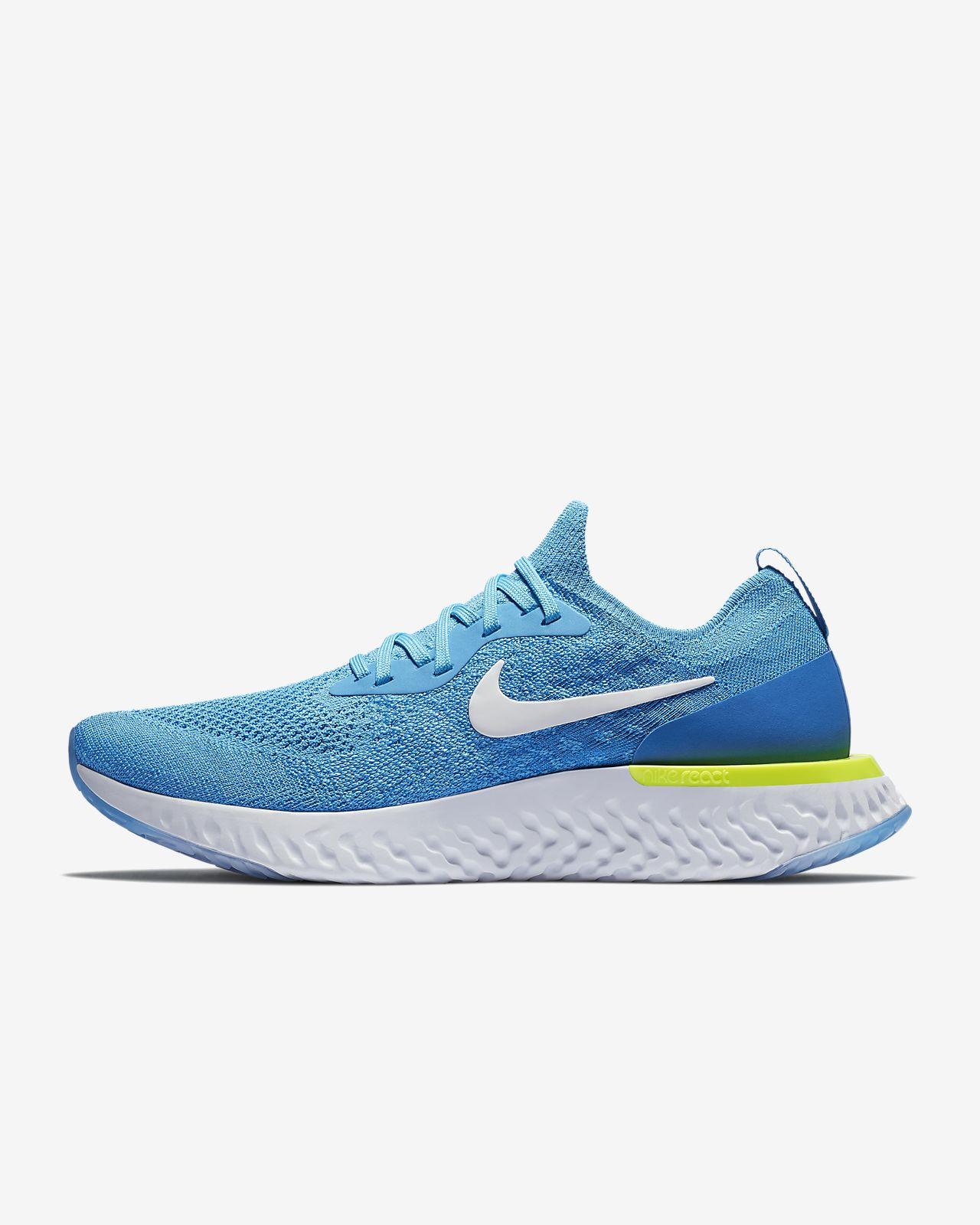 online store 26a3b 41908 ... denmark nike lunar epic low flyknit 2 chaussures de running pour hommes  bleu 93a4e f5935