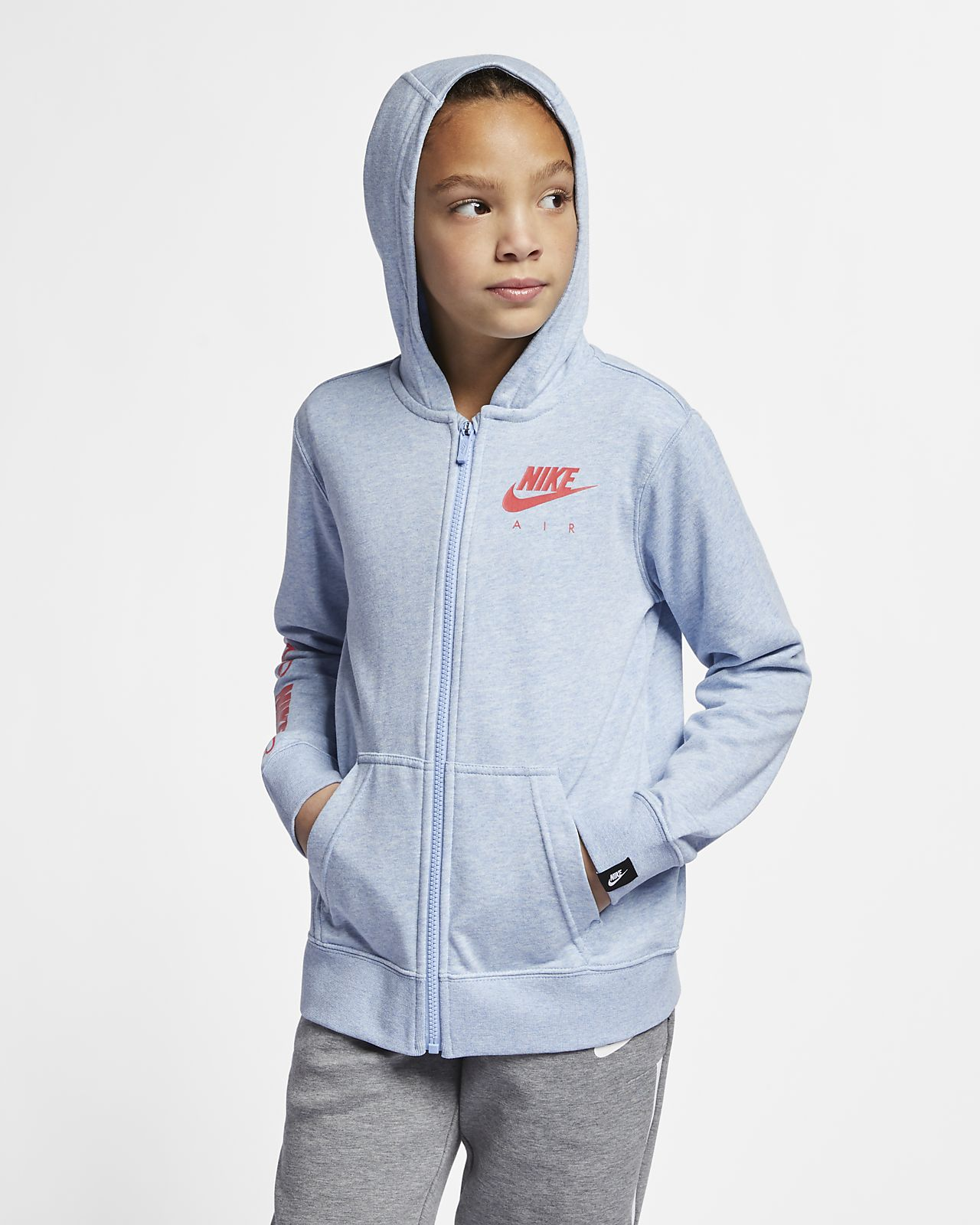 c74975330a Nike Air Big Kids' (Girls') Full-Zip Hoodie. Nike.com