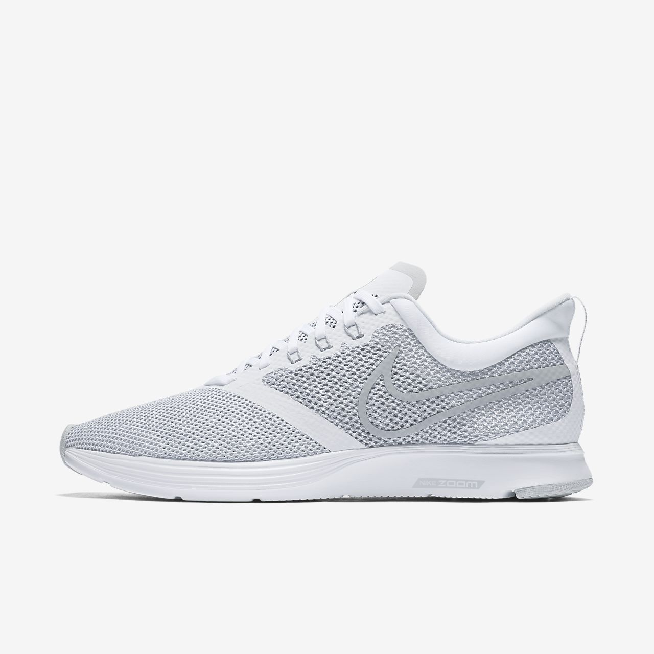 Nike Performance WMNS ZOOM STRIKE - Neutral running shoes - white/wolf grey Hqqzev7J6