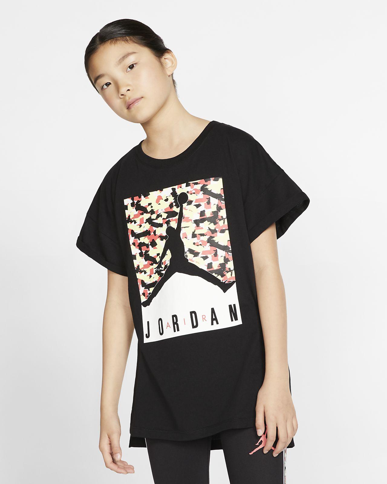 Kortärmad t-shirt Jordan Jumpman för ungdom (tjejer)