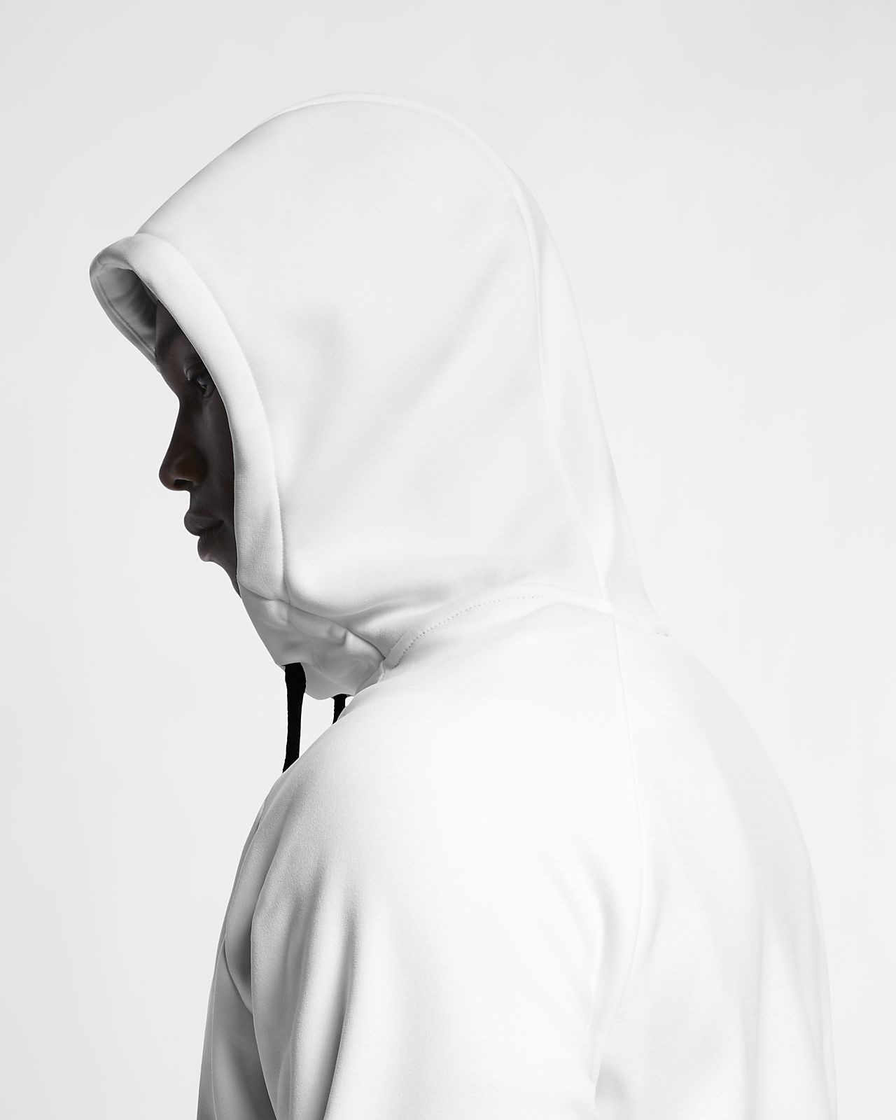 a white nike hoodie