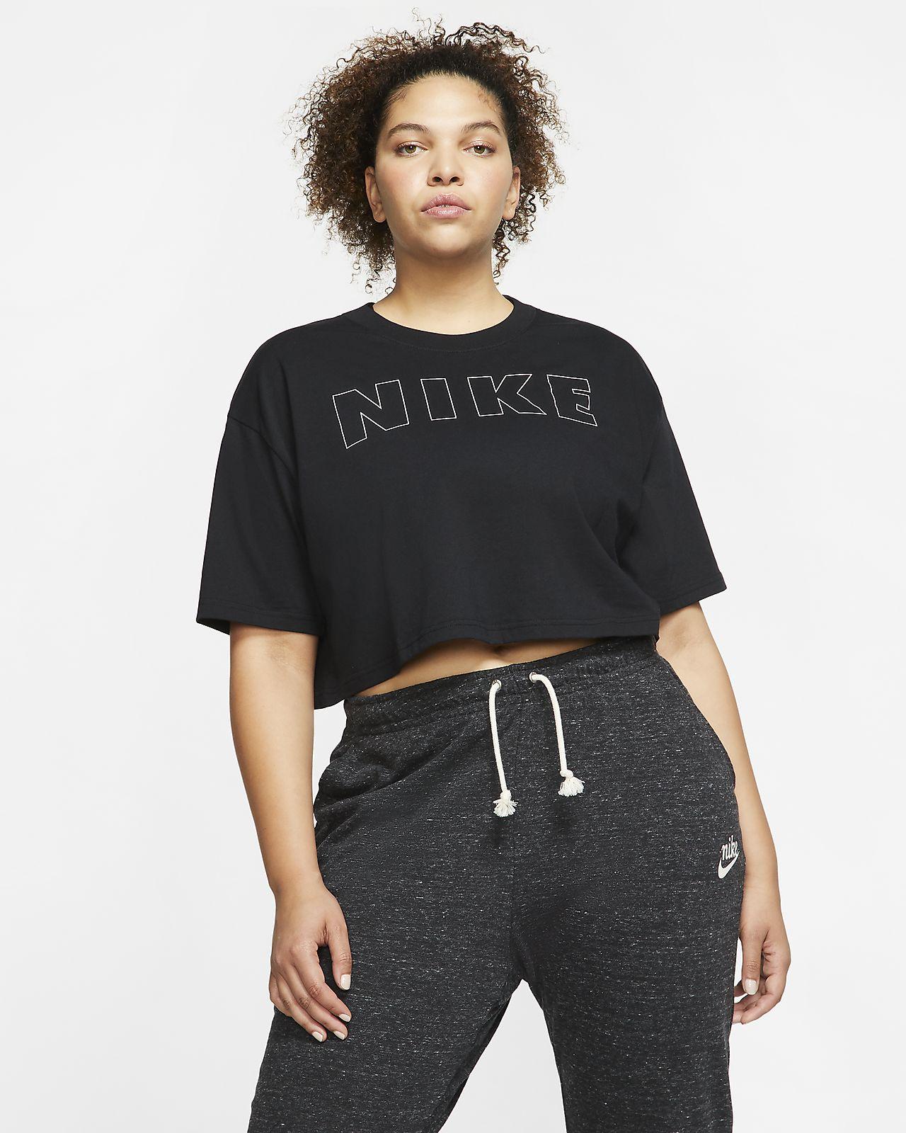 Nike Air T Shirt mit Crop Design für Damen (große Größe)