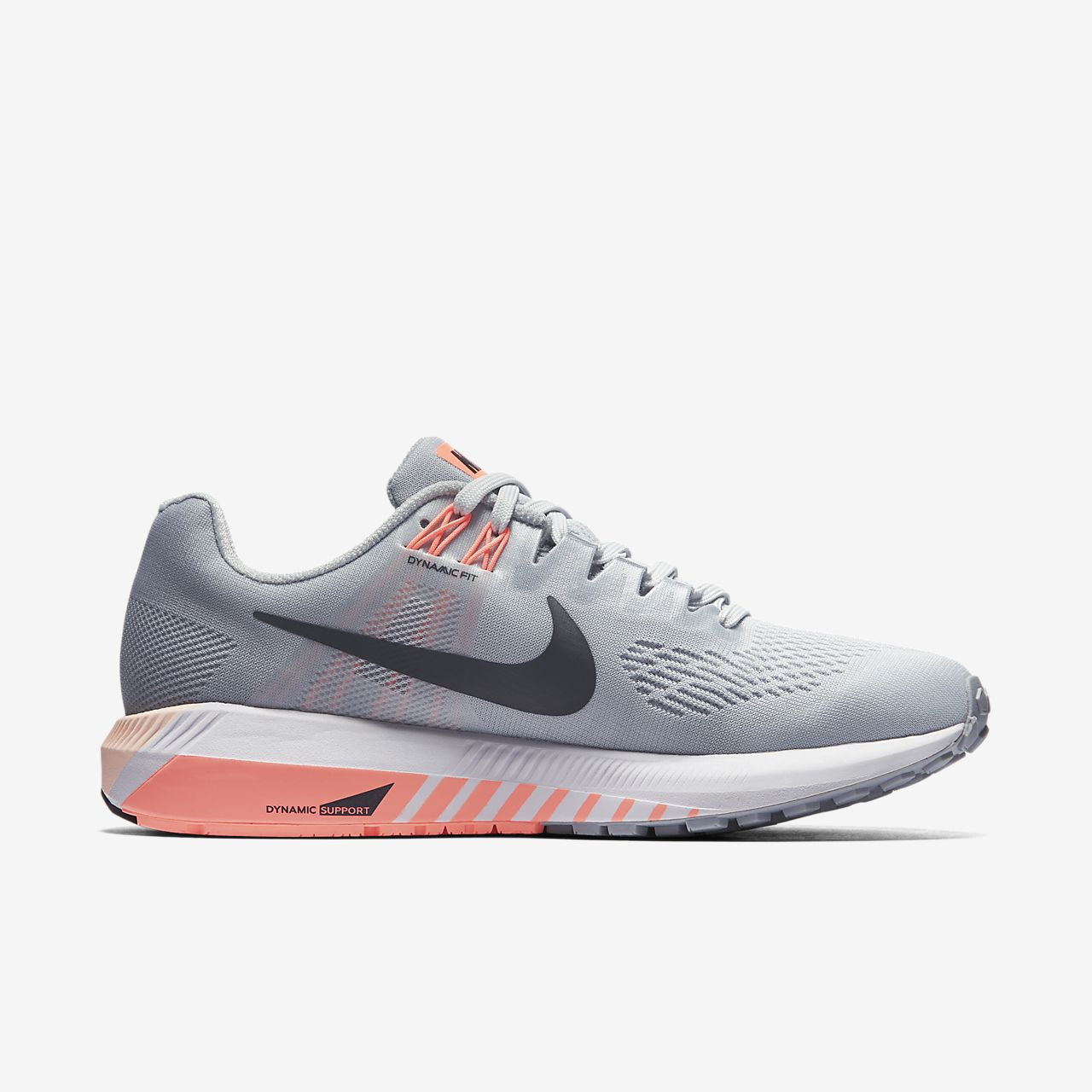 Nike Wmns Air Zoom Structure 21 Wolf Grey Women Running Shoes Sneaker 904701-008