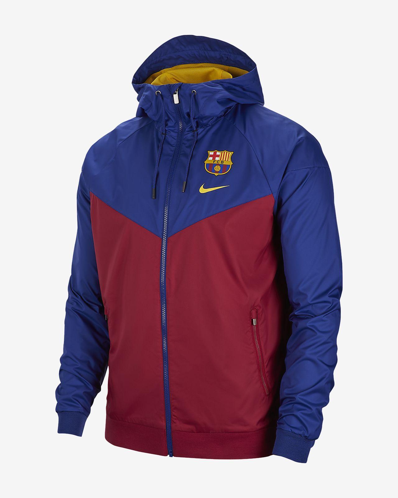 Jacka FC Barcelona Windrunner för män