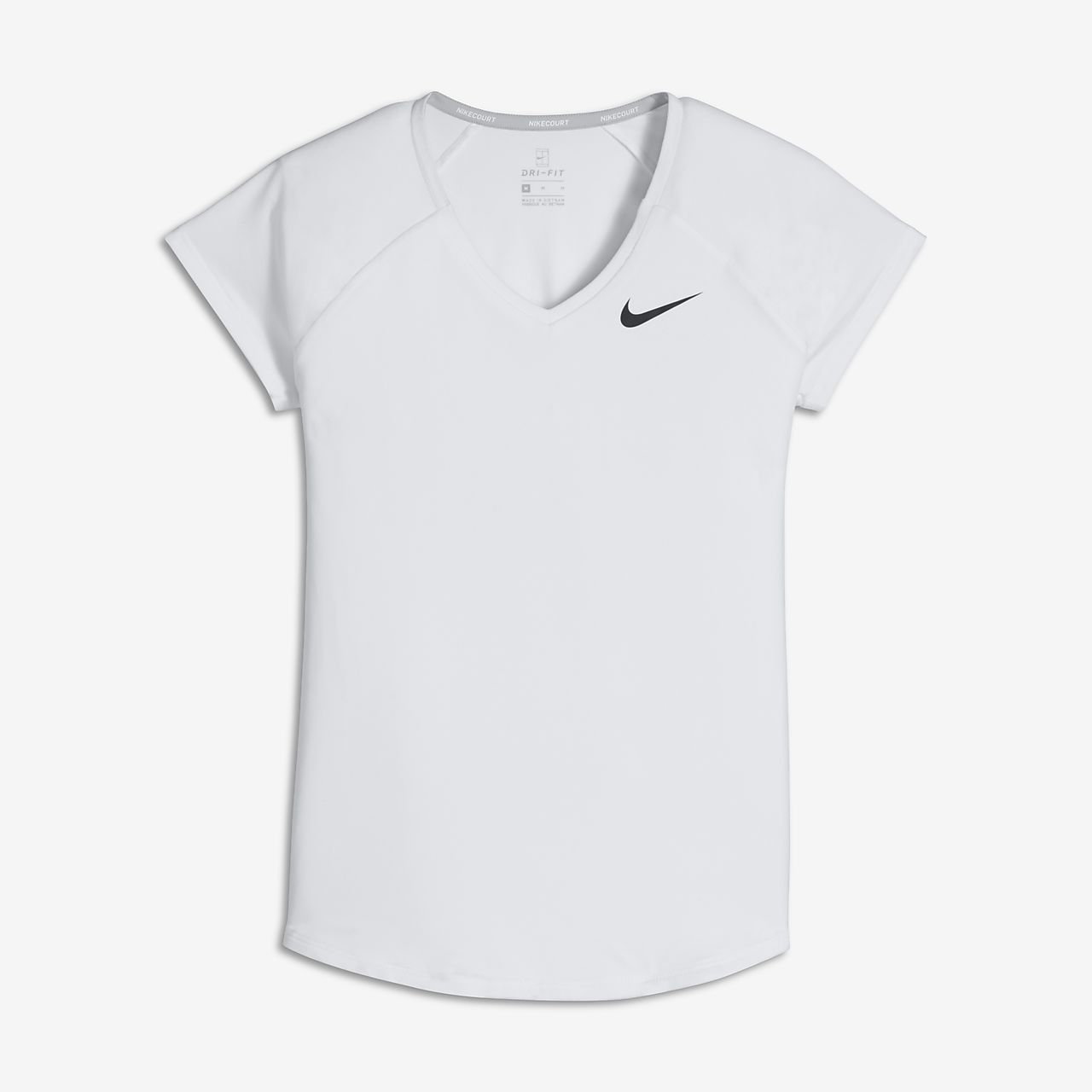 Koszulka tenisowa z krótkim rękawem dla dużych dzieci (dziewcząt) NikeCourt Pure