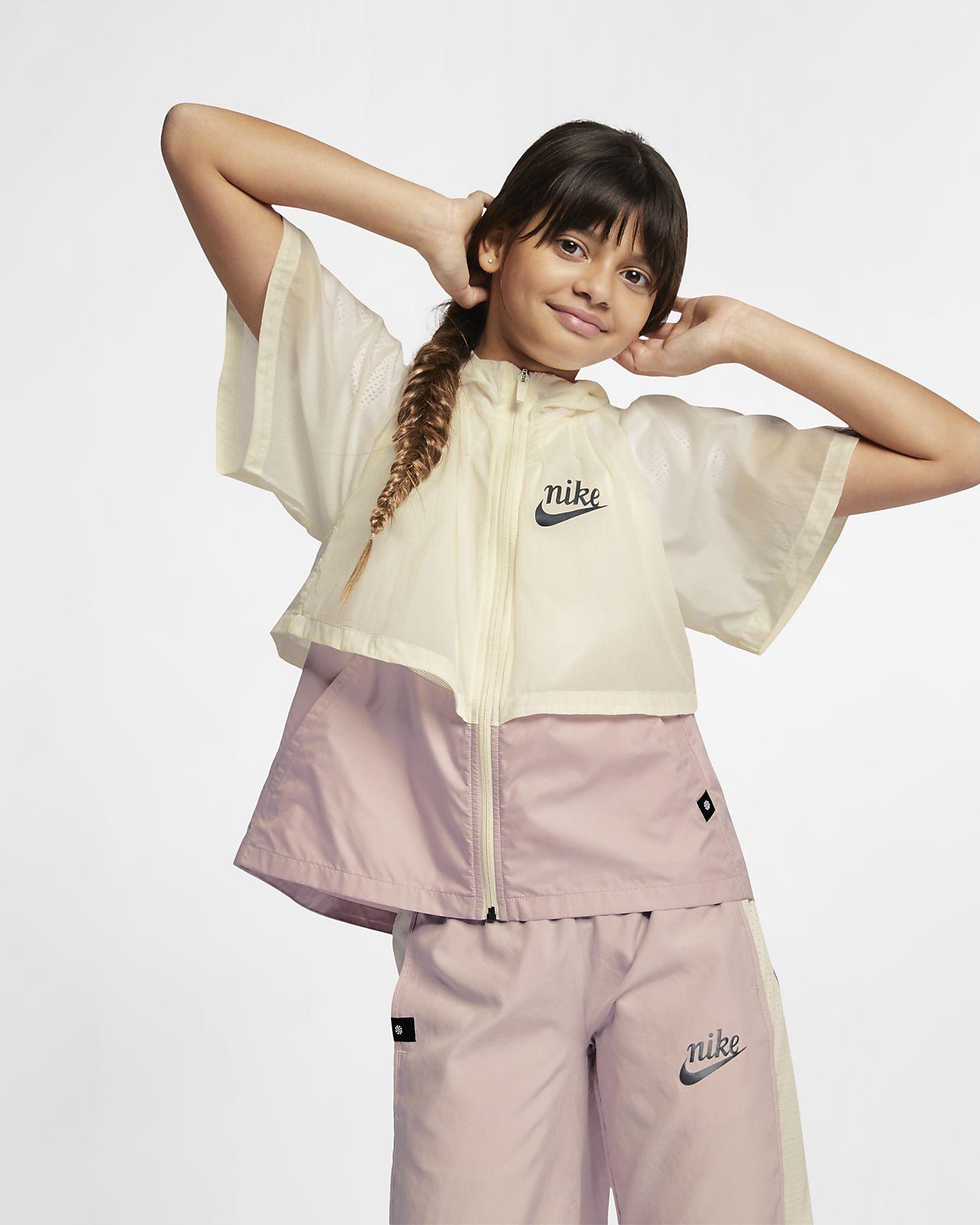 Nike Sportswear Windrunner 'Translucent' Older Kids' (Girls') Water-Repellent Windbreaker