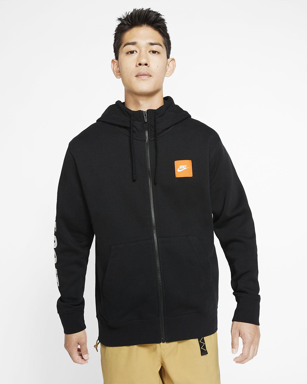 Nike Sportswear 男款全長式拉鍊 Fleece 連帽上衣