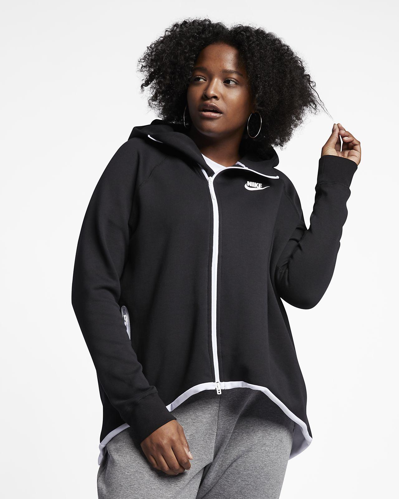... Nike Sportswear Tech Fleece hosszú cipzáras női pulóver (plus size  méret) 8a153cd12c