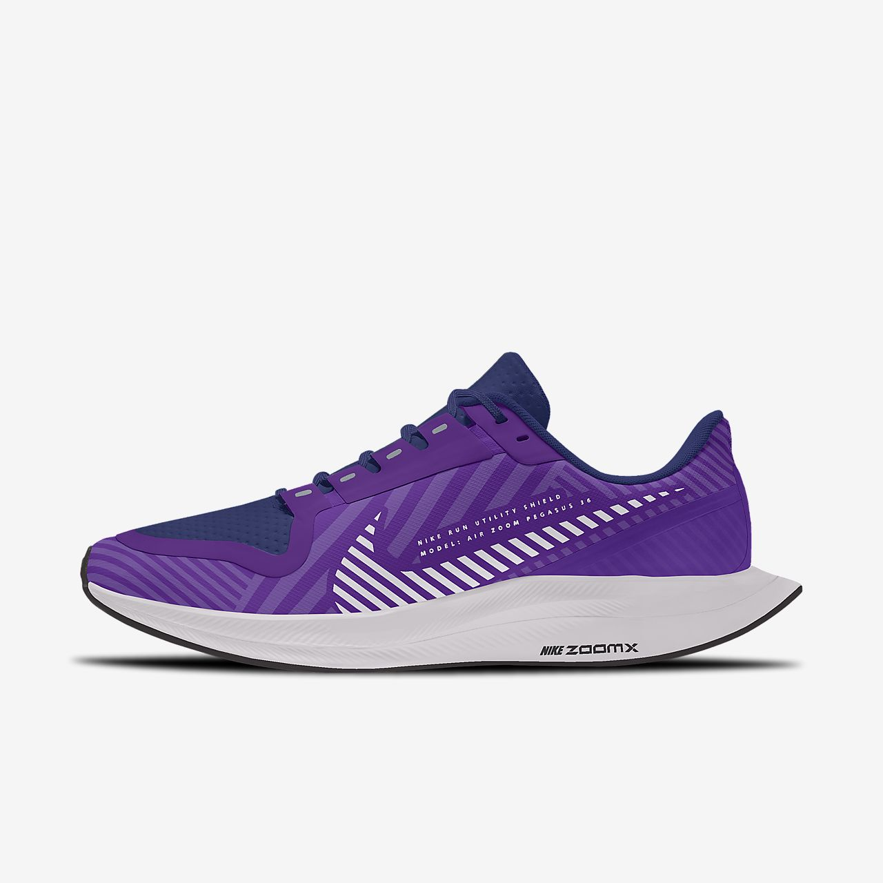 Nike Zoom Pegasus Turbo 2 Shield Low By You Custom Women's Running Shoe