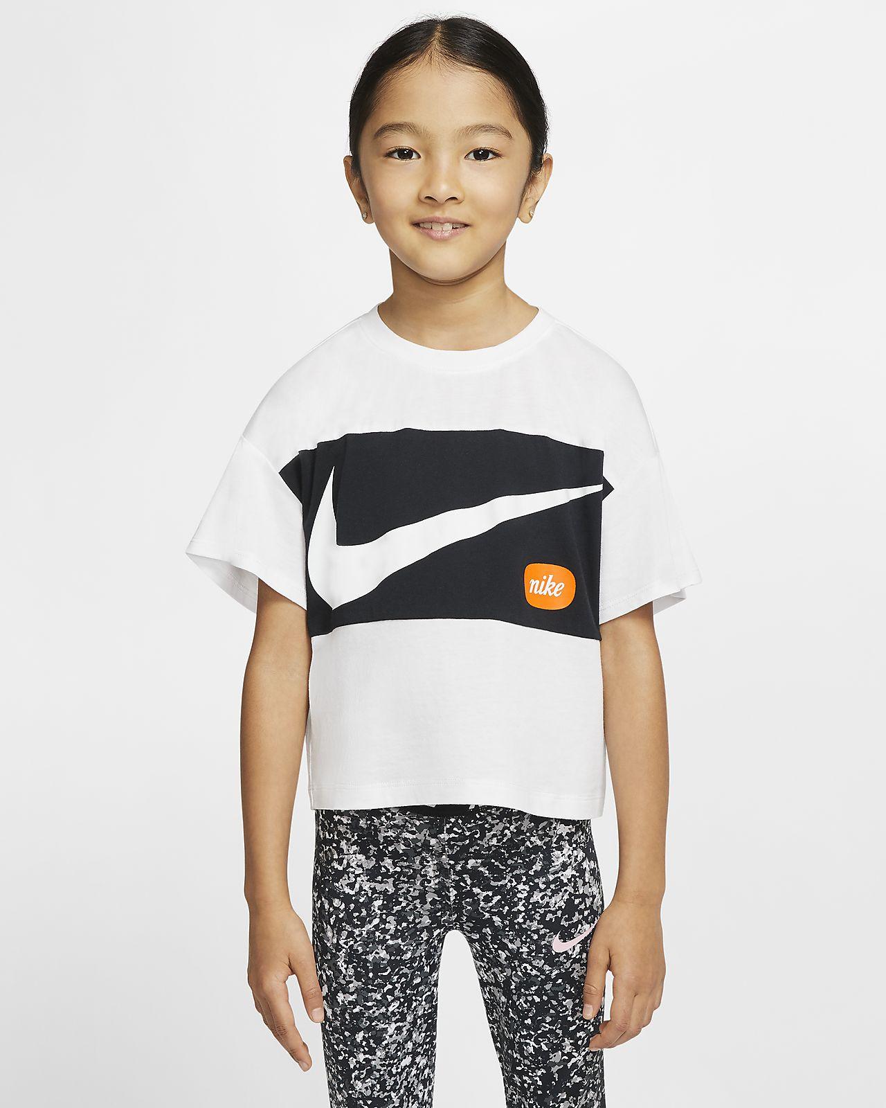 Nike Little Kids' Cropped Short-Sleeve Top
