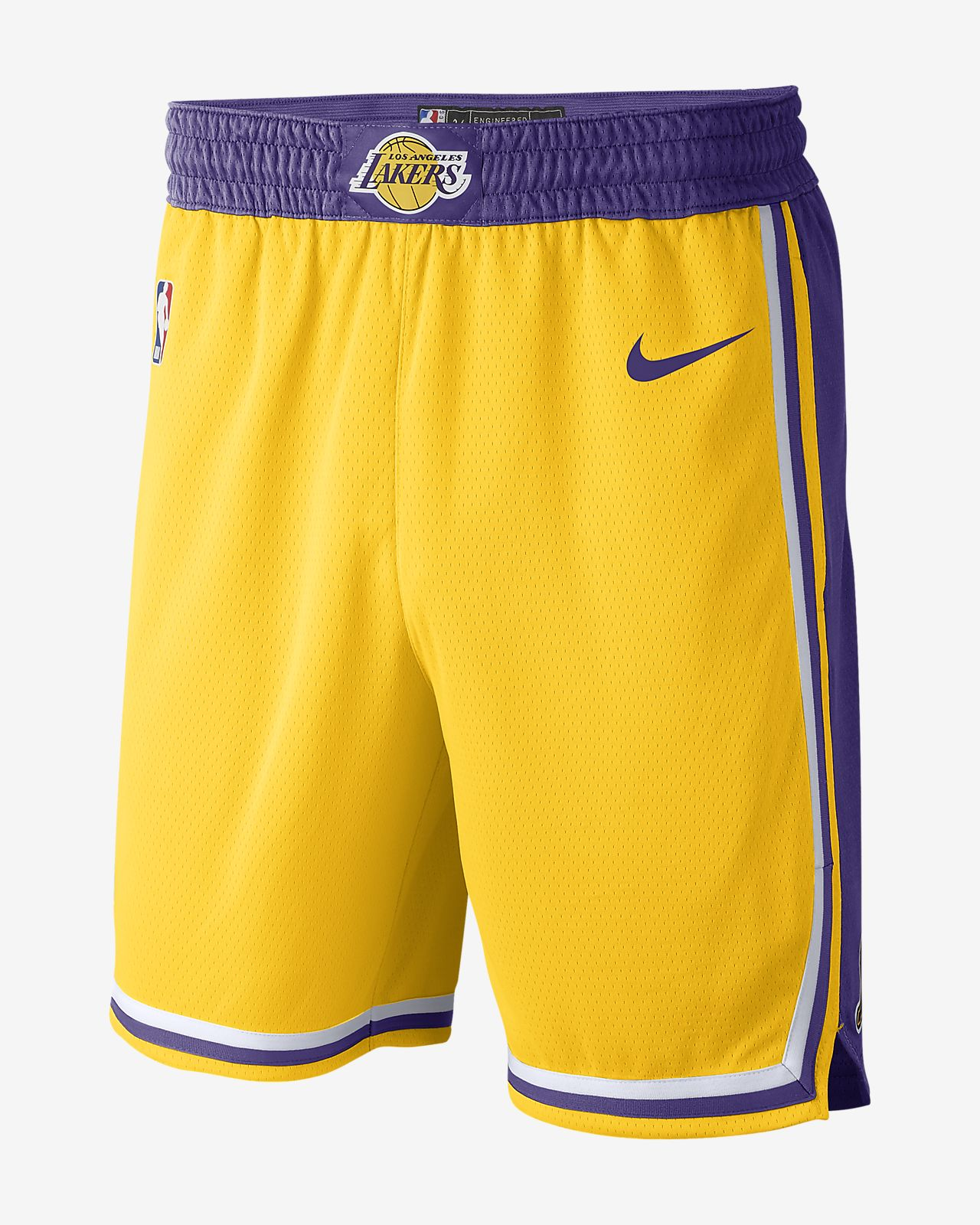 Shorts de la NBA para hombre Nike Los Angeles Lakers Icon Edition Swingman