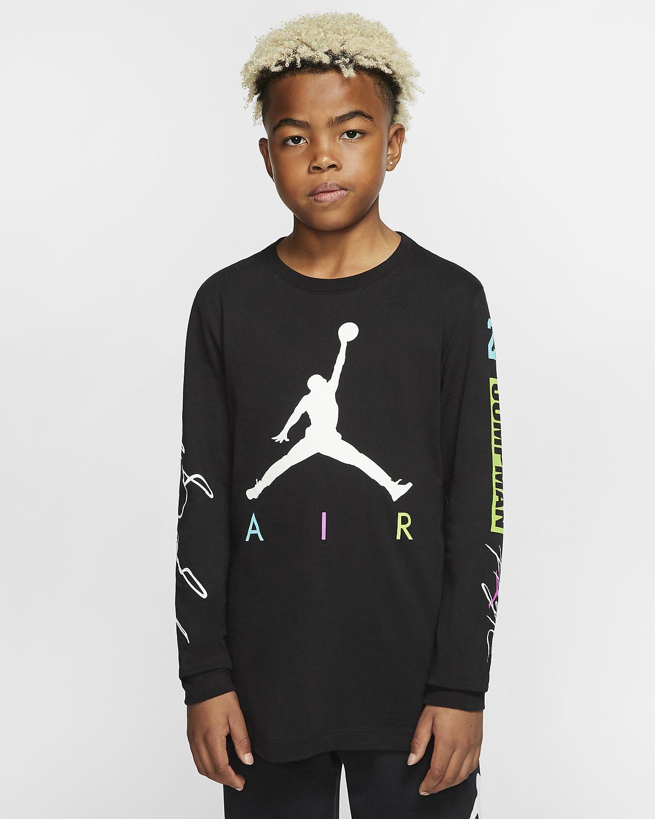 Jordan Jumpman T-shirt met lange mouwen voor jongens