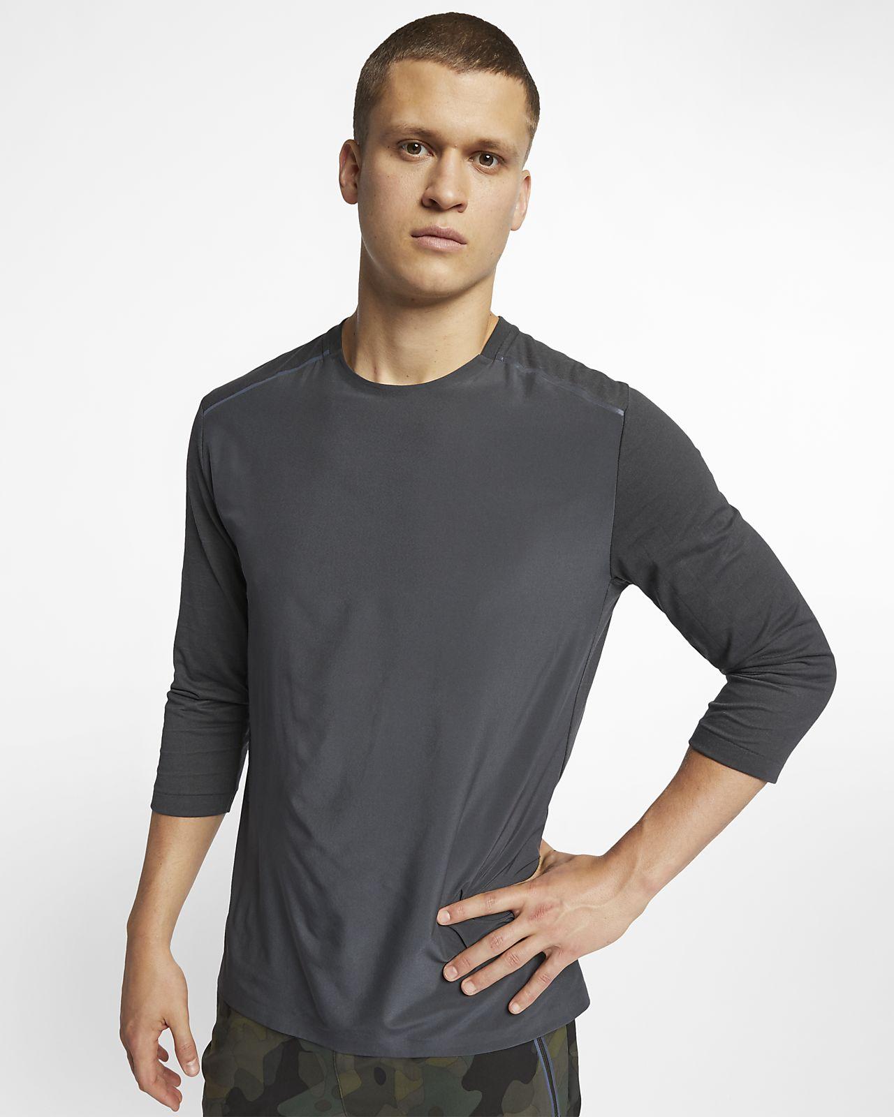 Nike Rise 365 Tech Pack–løbeoverdel med 3/4-ærmer til mænd