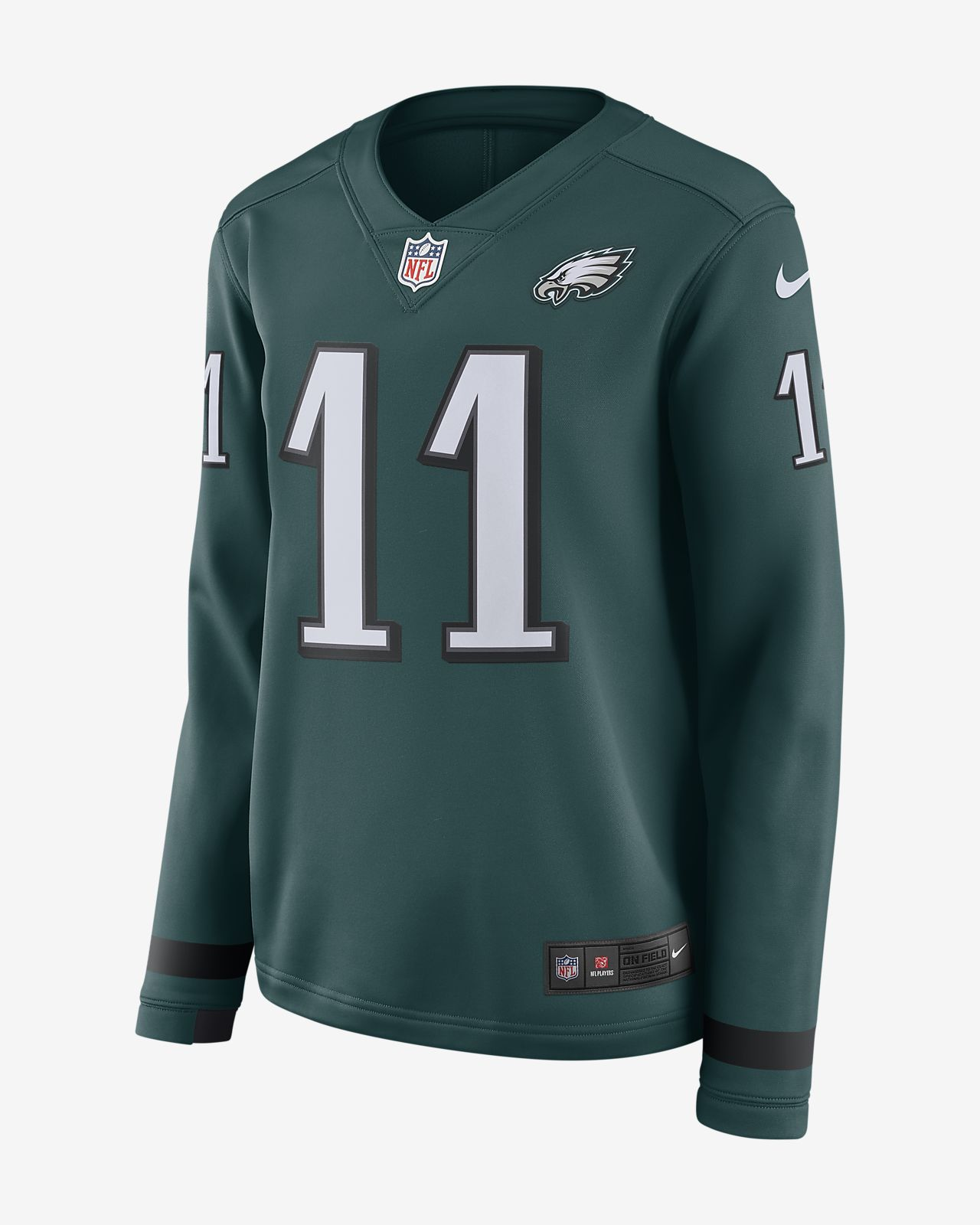 NFL Philadelphia Eagles Jersey (Carson Wentz) Women s Long-Sleeve ... d9c62c1597