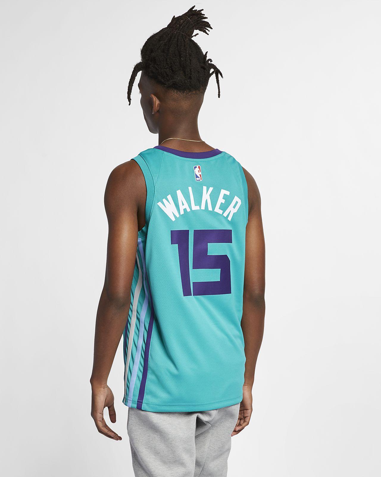 half off 00986 a389e Kemba Walker Icon Edition Swingman (Charlotte Hornets) Men's Jordan NBA  Connected Jersey