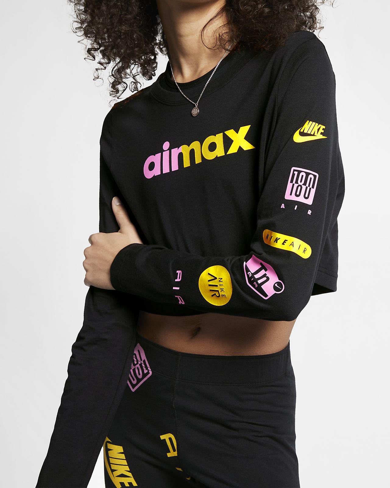 0075dd32 Nike Sportswear Essential Women's Long-Sleeve Crop Top. Nike.com