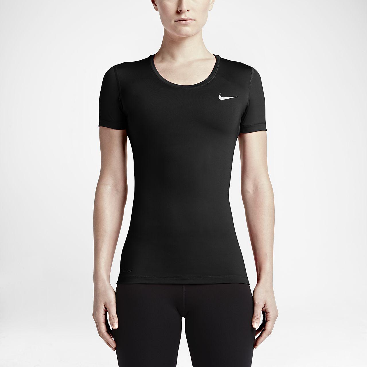 e0ccf0663312 Nike Pro Women s Short-Sleeve Training Top. Nike.com FI