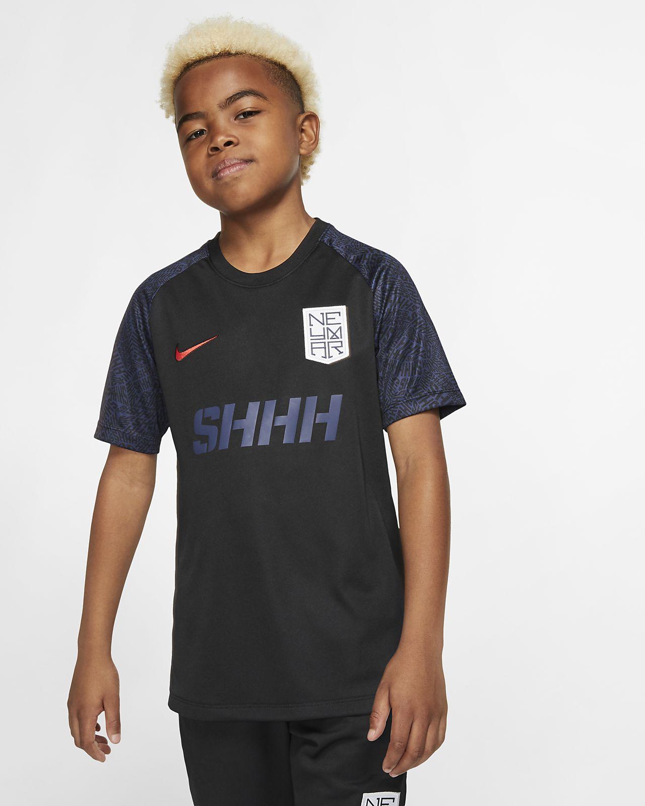 Top de fútbol de manga corta para niño talla grande Nike Dri-FIT Neymar Jr.